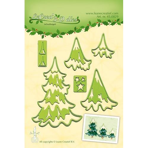 Lea'bilitie® Christmas trees snij en embossing mal
