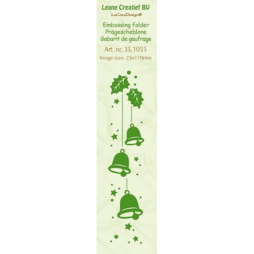 Embossing folder Border Christmas Bell 25x119mm
