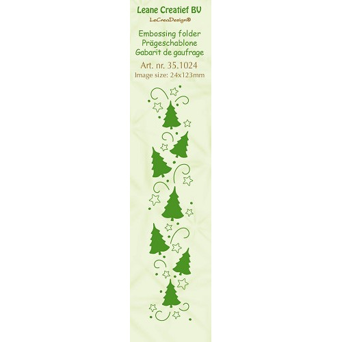 Embossing folder Christmas trees 24x123mm