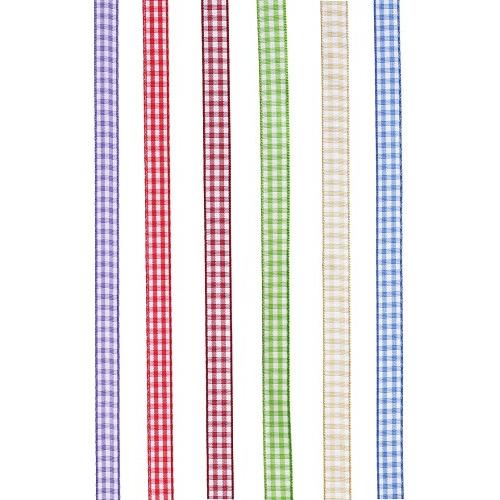 Ruitenlint, 6 mm, rol met 20 m, bordeaux