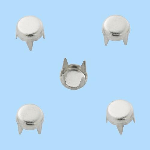 Decoratieve brads, XV, buidel met 20 st, 5 mm, zink, nikkelvrij, zilver