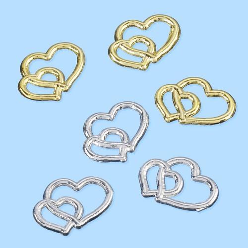 CREApop® Strooidelen Harten, zilver, ca. 1,5 cm, buidel met 50