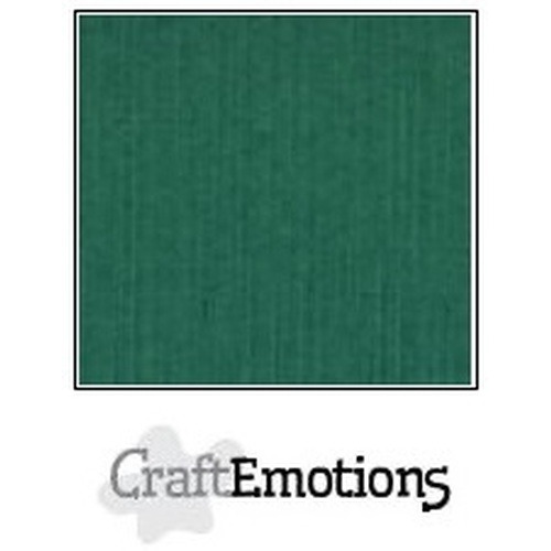 CraftEmotions linnenkarton 10 vel kerstgroen 30,5x30,5cm / LC-36