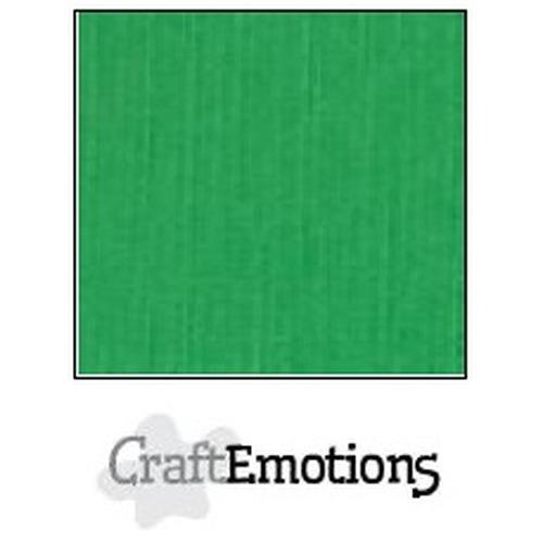 CraftEmotions linnenkarton 10 vel grasgroen 30,5x30,5cm / LC-27