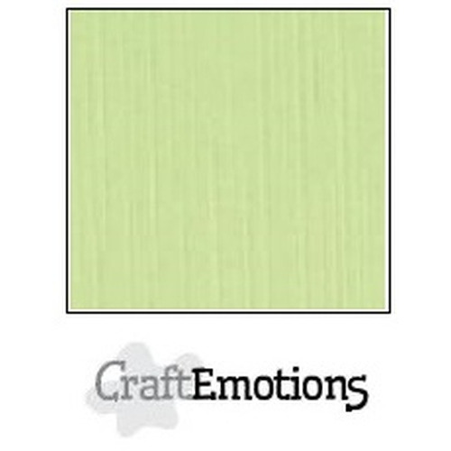 CraftEmotions linnenkarton 10 vel kiwi 30,5x30,5cm / LC-21