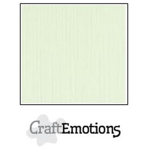 CraftEmotions linnenkarton 10 vel lichtgroen 30,5x30,5cm / LC-34