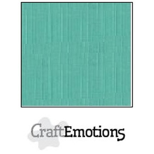CraftEmotions linnenkarton 10 vel saliegroen pastel 30,5x30,5cm / LC-29