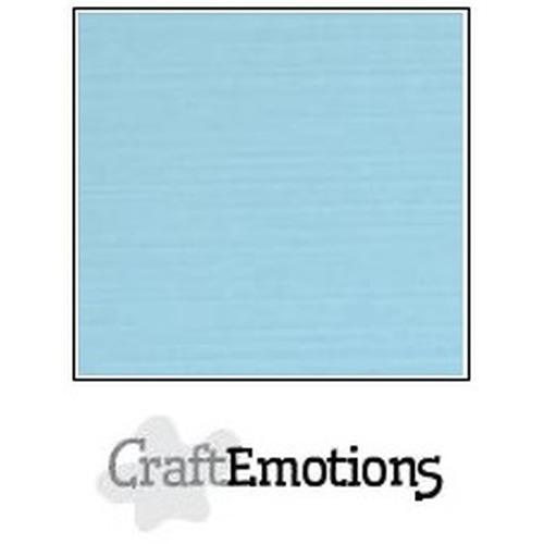 CraftEmotions linnenkarton 10 vel lichtblauw 30,5x30,5cm / LC-08