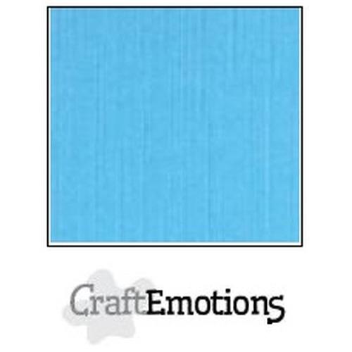 CraftEmotions linnenkarton 10 vel aqua 30,5x30,5cm / LC-26