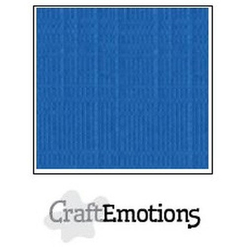 CraftEmotions linnenkarton 10 vel signaalblauw 30,5x30,5cm / LC-15