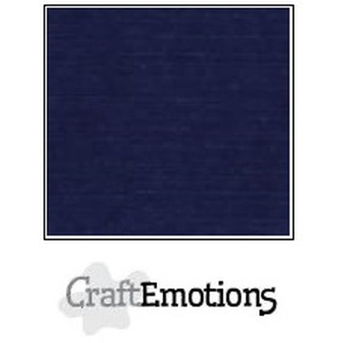 CraftEmotions linnenkarton 10 vel donker blauw 30,5x30,5cm / LC-05