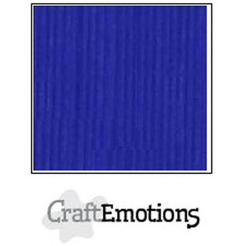 CraftEmotions linnenkarton 10 vel kobaltblauw 30,5x30,5cm / LC-55