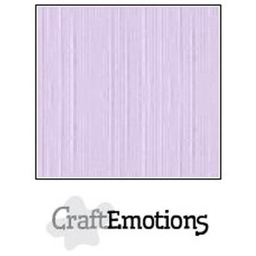 CraftEmotions linnenkarton 10 vel lavendel-pastel 30,5x30,5cm / LC-59