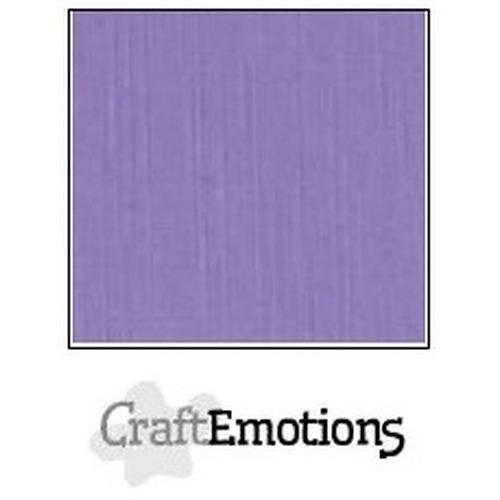 CraftEmotions linnenkarton 10 vel lavendel 30,5x30,5cm / LC-20