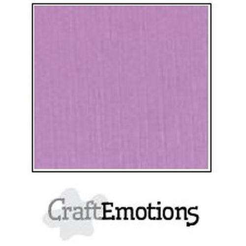 CraftEmotions linnenkarton 10 vel lila 30,5x30,5cm / LC-33