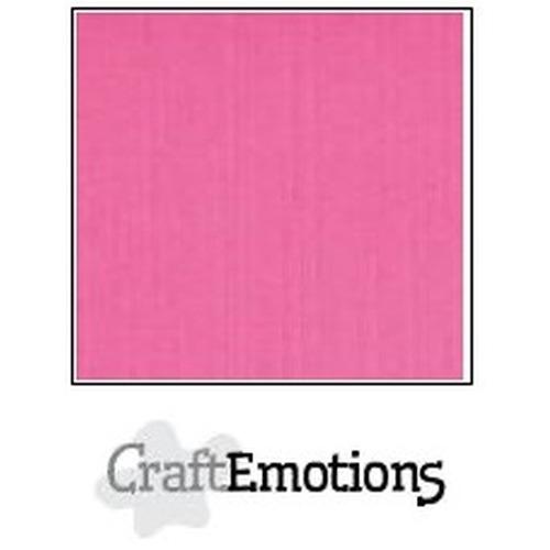 CraftEmotions linnenkarton 10 vel magenta 30,5x30,5cm / LC-41