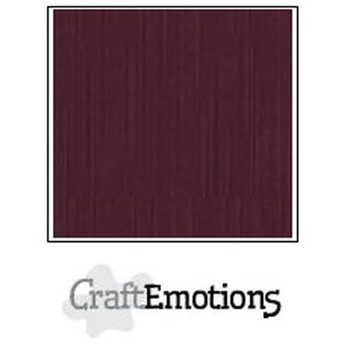 CraftEmotions linnenkarton 10 vel burgundy 30,5x30,5cm / LC-67