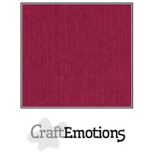 CraftEmotions linnenkarton 10 vel bordeaux 30,5x30,5cm / LC-25