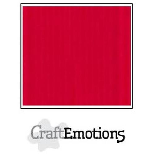 CraftEmotions linnenkarton 10 vel vuurrood 30,5x30,5cm / LC-66