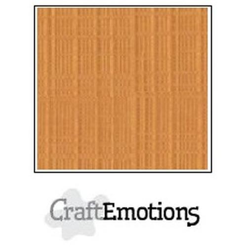 CraftEmotions linnenkarton 10 vel toffee 30,5x30,5cm / LC-91