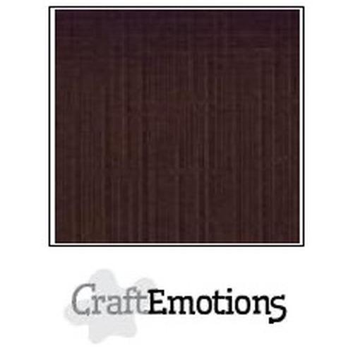 CraftEmotions linnenkarton 10 vel chocolade 30,5x30,5cm / LC-79