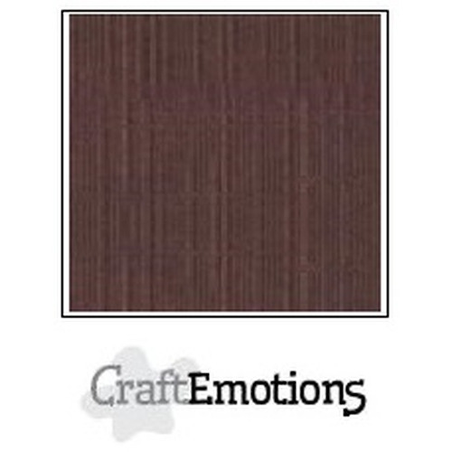 CraftEmotions linnenkarton 10 vel koffie 30,5x30,5cm / LC-75