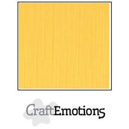 CraftEmotions linnenkarton 10 vel goudgeel 30,5x30,5cm / LC-22