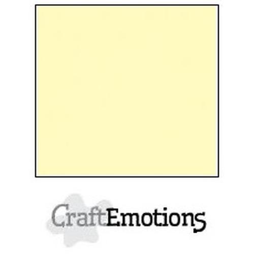 CraftEmotions linnenkarton 10 vel lichtgeel 30,5x30,5cm / LC-10