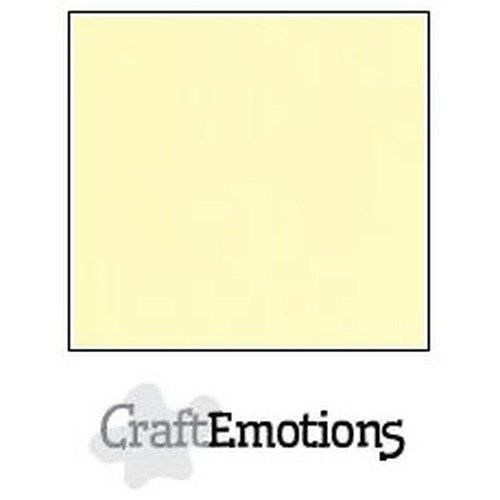 CraftEmotions linnenkarton 10 vel geel 30,5x30,5cm / LC-32