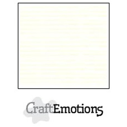 CraftEmotions linnenkarton 10 vel gebroken wit 30,5x30,5cm / LC-04