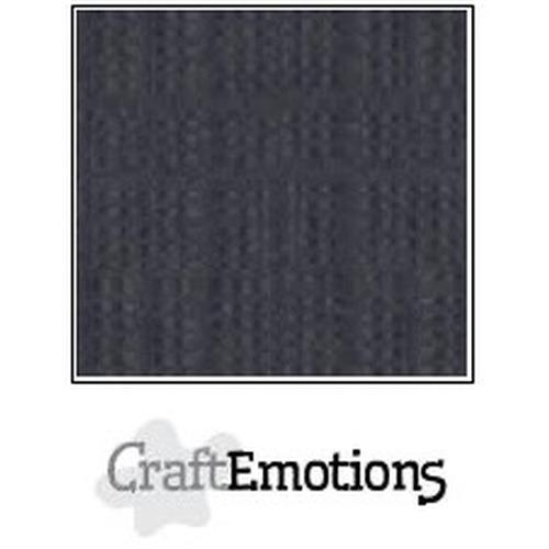 CraftEmotions linnenkarton 10 vel antraciet 30,5x30,5cm / LC-72