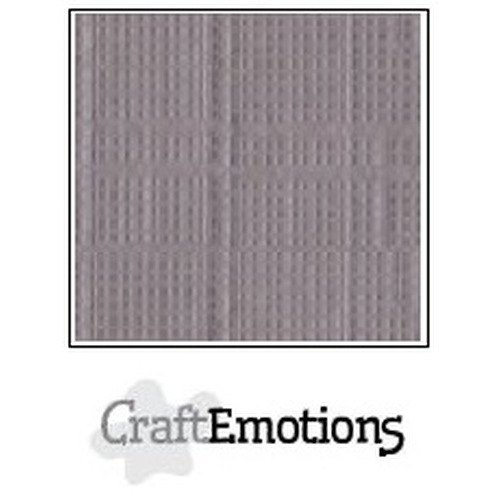 CraftEmotions linnenkarton 10 vel zilvergrijs 30,5x30,5cm / LC-73