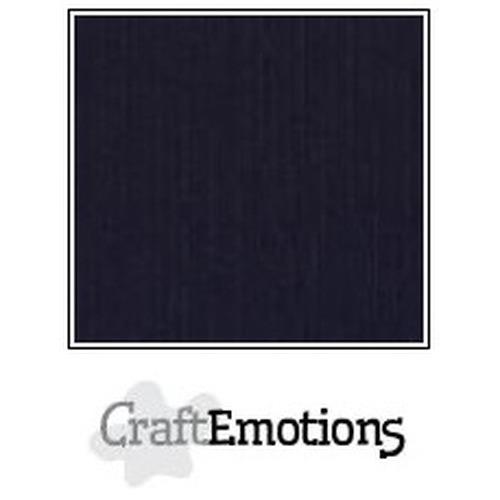 CraftEmotions linnenkarton 10 vel zwart 30,5x30,5cm / LC-58