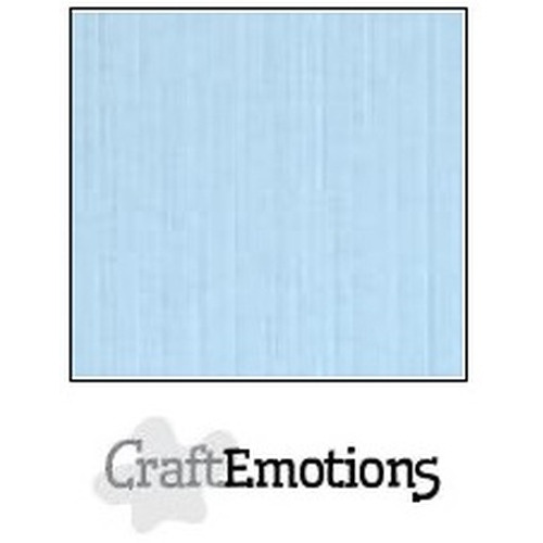 CraftEmotions linnenkarton 10 vel azuurblauw 27x13,5cm  250gr  / LHC-14