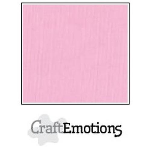 CraftEmotions linnenkarton 10 vel roze 27x13,5cm  250gr  / LHC-38
