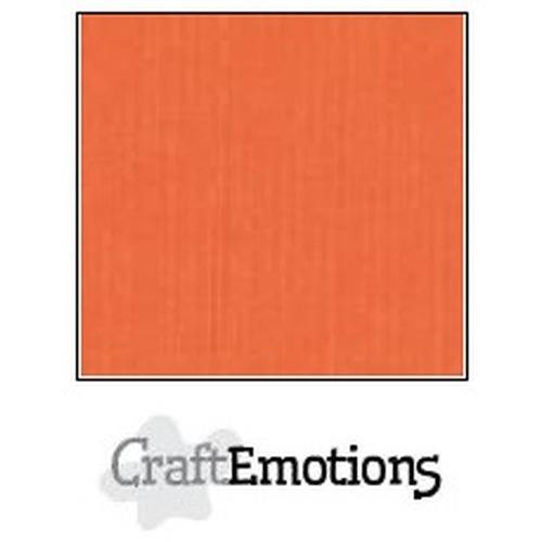 CraftEmotions linnenkarton 10 vel oranje 27x13,5cm  250gr  / LHC-23