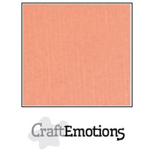 CraftEmotions linnenkarton 10 vel zalm 27x13,5cm  250gr  / LHC-43