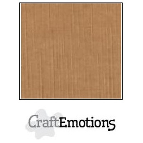 CraftEmotions linnenkarton 10 vel mokka 27x13,5cm  250gr  / LHC-28