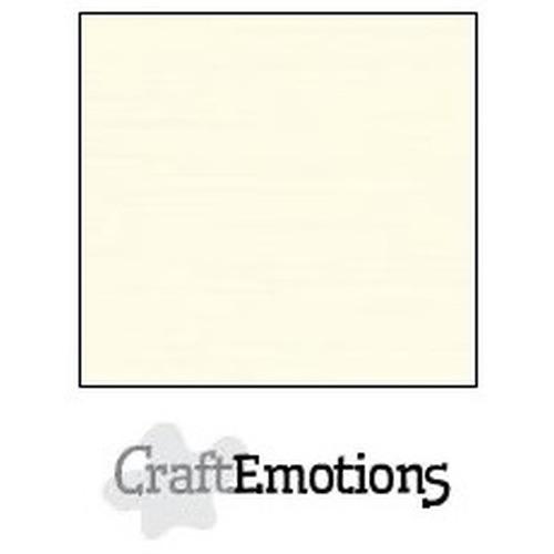 CraftEmotions linnenkarton 10 vel ivoor 27x13,5cm  250gr  / LHC-03