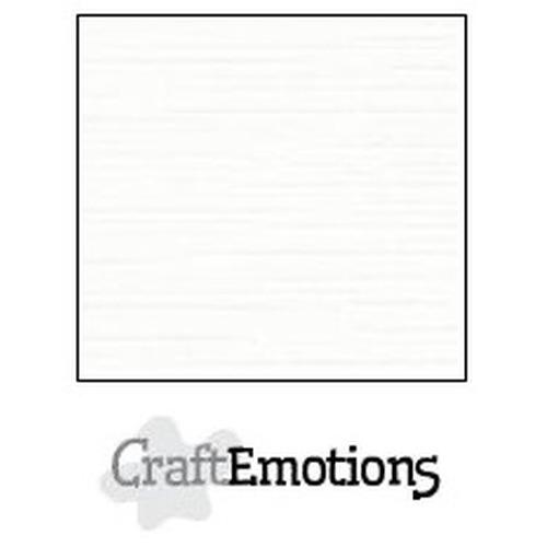 CraftEmotions linnenkarton 10 vel wit 27x13,5cm  250gr  / LHC-02