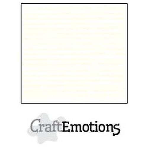 CraftEmotions linnenkarton 10 vel gebroken wit 27x13,5cm  250gr  / LHC-04