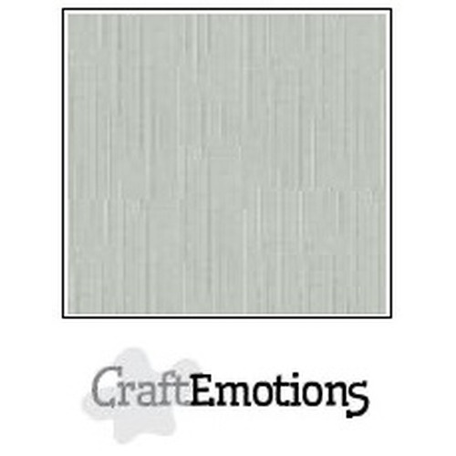 CraftEmotions linnenkarton 10 vel titanium 27x13,5cm  250gr  / LHC-40