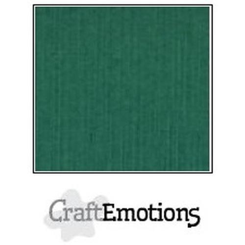 CraftEmotions linnenkarton 10 vel kerstgroen 27x13,5cm  250gr  / LHC-36