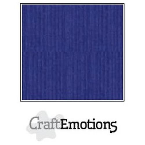 CraftEmotions linnenkarton 10 vel saffierblauw 27x13,5cm  250gr  / LHC-56