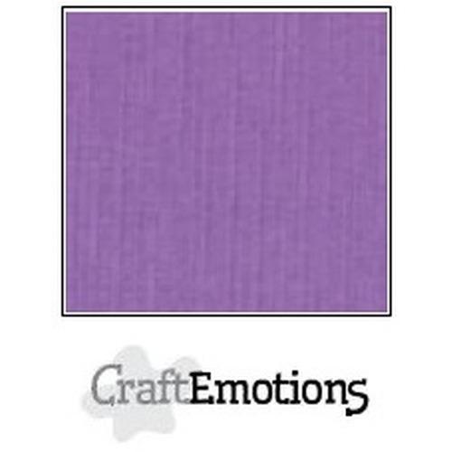 CraftEmotions linnenkarton 10 vel paars 27x13,5cm  250gr  / LHC-24