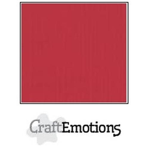 CraftEmotions linnenkarton 10 vel kersen rood 27x13,5cm  250gr  / LHC-30