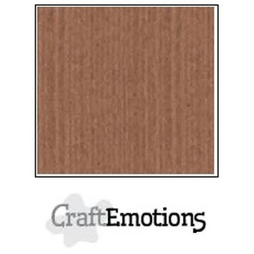 CraftEmotions linnenkarton 10 vel terra bruin 27x13,5cm  250gr  / LHC-76