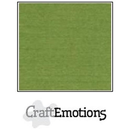 CraftEmotions linnenkarton 10 vel mosgroen 27x13,5cm  250gr  / LHC-45