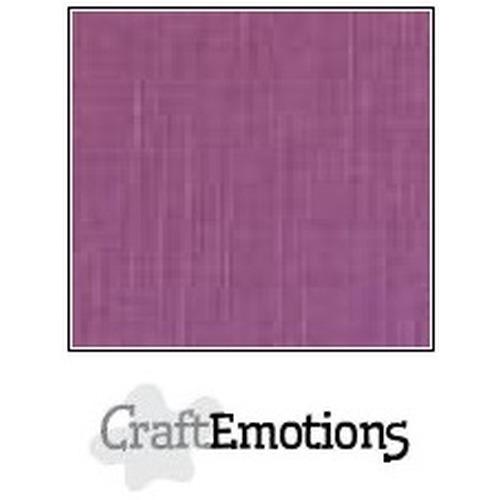 CraftEmotions linnenkarton 10 vel purper 27x13,5cm  250gr  / LHC-13