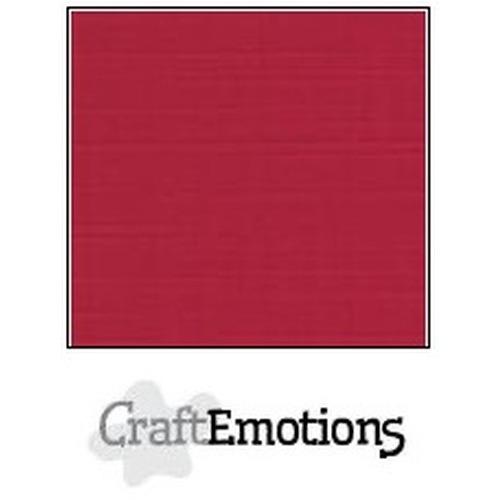 CraftEmotions linnenkarton 10 vel kerstrood 27x13,5cm  250gr  / LHC-07